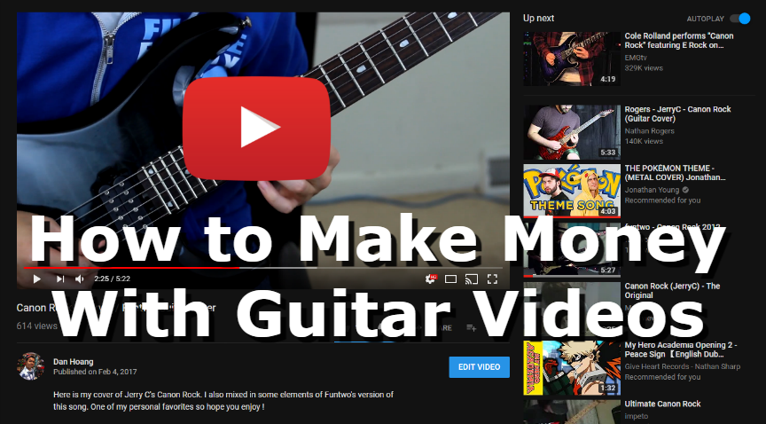 How to Make Money with Guitar Videos on YouTube