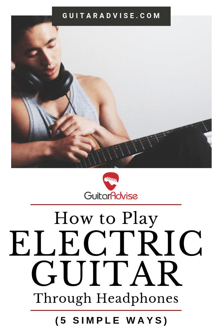 Electric Guitar With Headphones