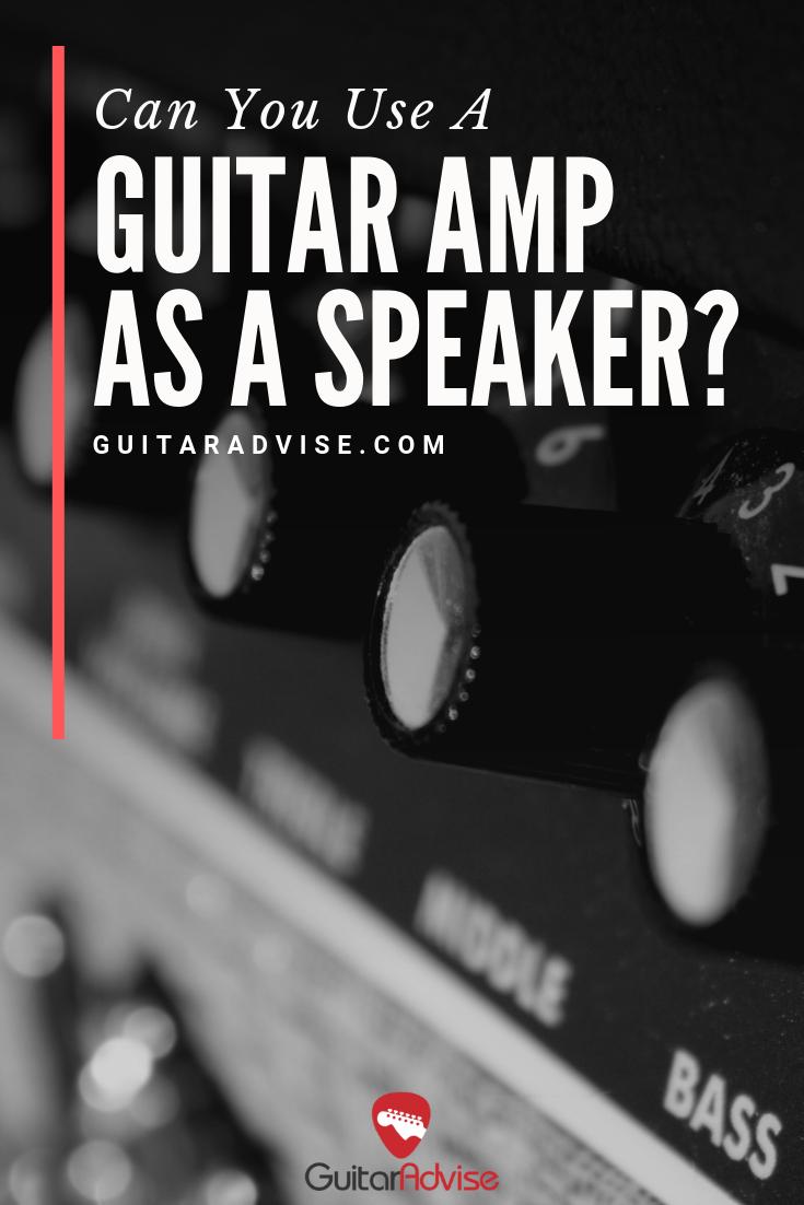 Guitar Amp as a Speaker